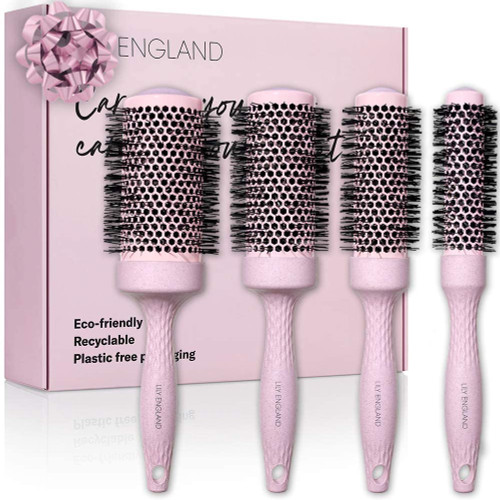 Lily England Eco Barrel Round Brush Set for Luminous Bouncy Hair Styles