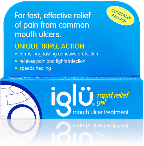 Iglu Rapid Pain Soothing Gel Mouth Ulcer Treatment - 8g