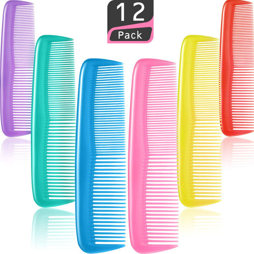 Pocket Size Multi Hair Combs Set with Durable Teeth - 12 Pieces