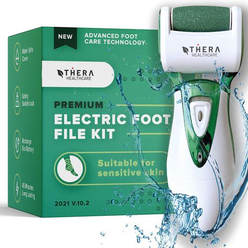 Thera Dead Skin Buff Away Premium Electric Foot File Kit