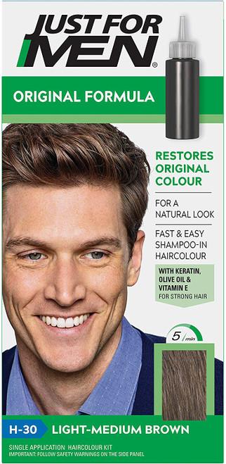 Just for men Original Formula Hair Dye-Light Medium Brown