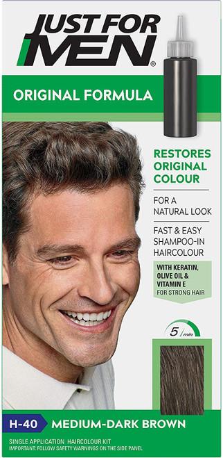 Just for men Original Formula Hair Dye-Medium Dark Brown
