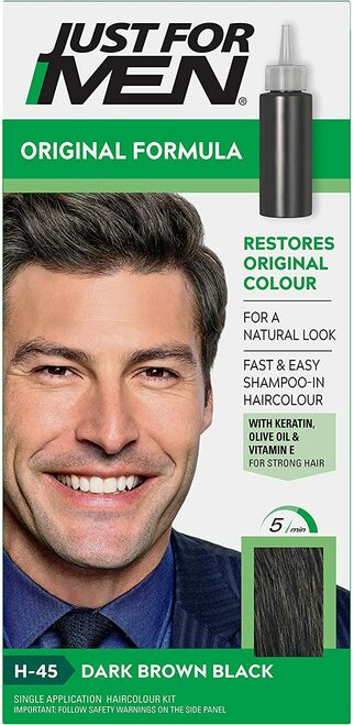 Just for men Original Formula Hair Dye-Dark Brown Black