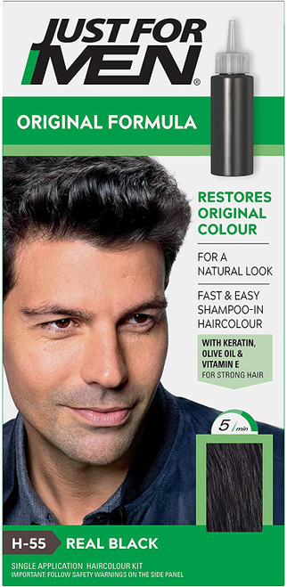 Just for men Original Formula Hair Dye-Real Black
