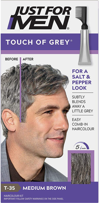 Just for men Touch of Grey Hair Dye-Medium Brown
