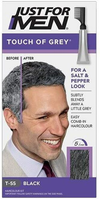 Just for men Touch of Grey Hair Dye-Black