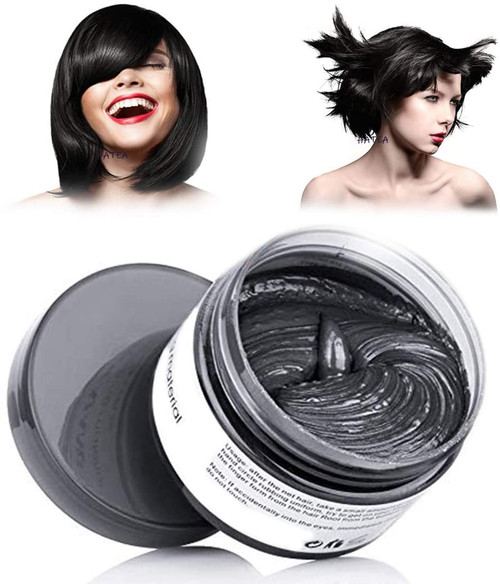 Temporary Modeling Natural Color Hair Dye Wax-Black