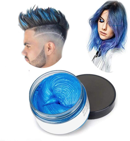 Temporary Modeling Natural Color Hair Dye Wax-Blue