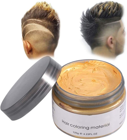 Temporary Modeling Natural Color Hair Dye Wax-Gold