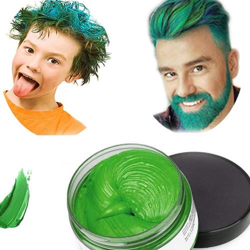 Temporary Modeling Natural Color Hair Dye Wax-Green