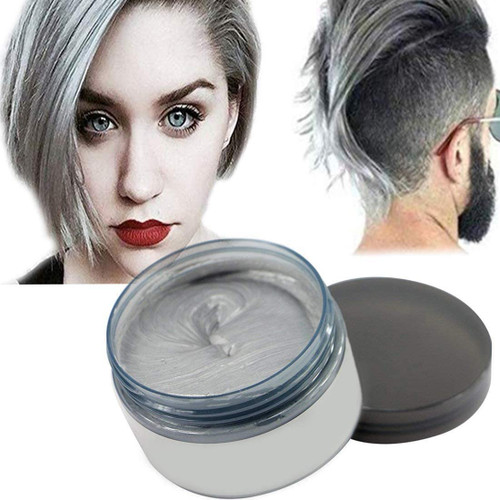 Temporary Modeling Natural Color Hair Dye Wax-Silver Grey