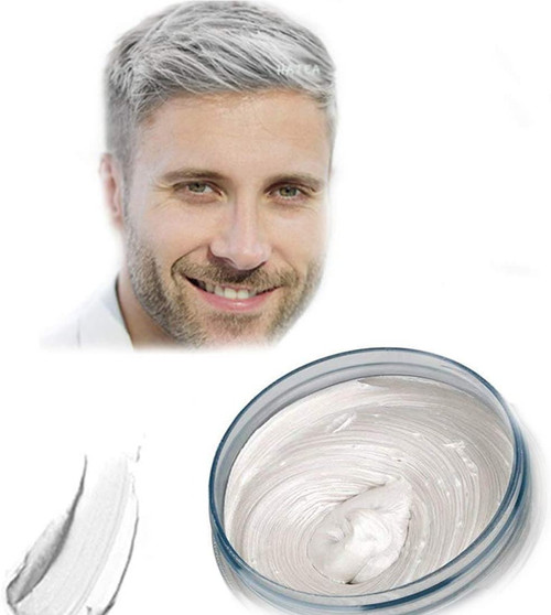 Temporary Modeling Natural Color Hair Dye Wax-White
