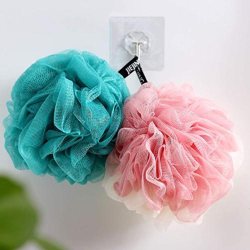 Ebingoo Soft Bath Shower Sponges Green and Pink White Loofa