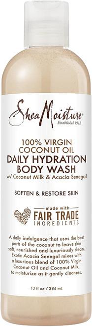 Shea Moisture 100% Virgin Coconut Oil Daily Hydration Body Wash-13oz