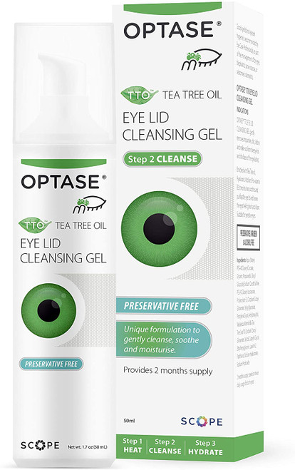 Optase Soothing Tea Tree Oil Eye Lid Cleansing Gel - 50ml