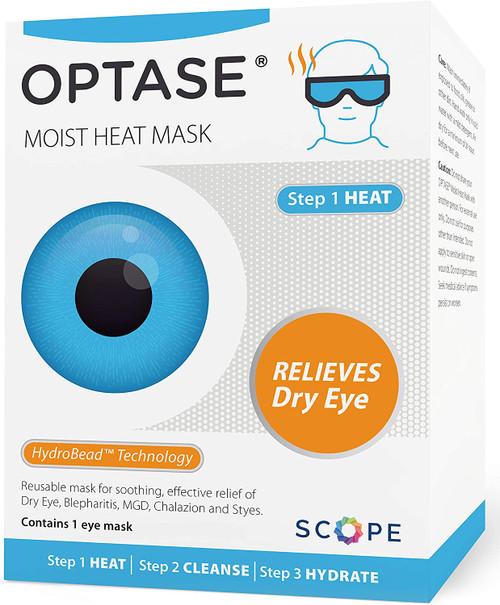 Optase Super Soft Cotton Dry Eye Relief Moist Heat Eye Mask