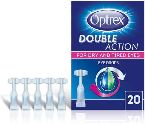 Optrex Double Action Instant Dry Eye Relief Lubricating Eye Drops - 20pcs