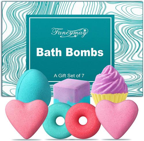 Natural Bath Bombs Gift Set-7Pcs
