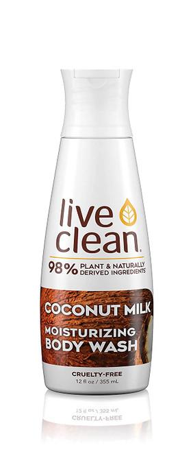 Live Clean Coconut Milk Moisturizing Body Wash-17 oz.