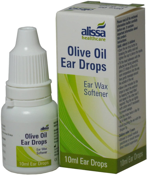 Olive Oil Excessive Wax Removal Ear Softens Drops - 5 Packs