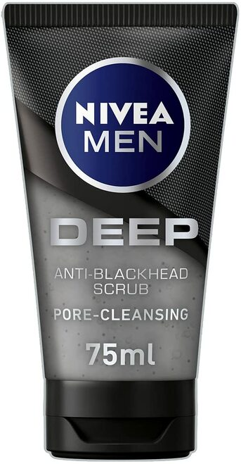 NIVEA MEN Deeply Cleansing Face Exfoliator Anti-Blackhead Scrub - 75 ml