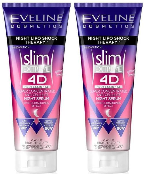 Eveline Extreme 4D Super Concentrated Cellulite Cream Serum-2x250ml