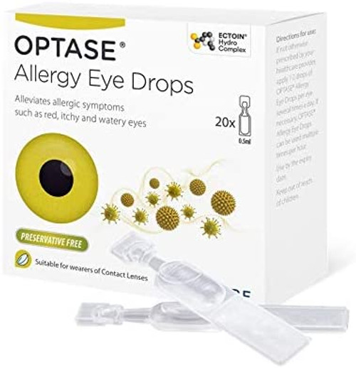 Optase Red Itchy and Watery Allergy Eye Drops - 20 Single Doses