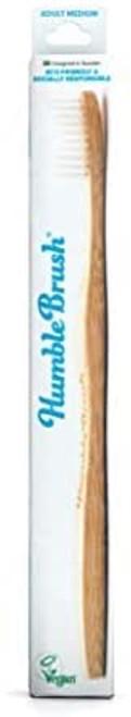 The Humble Co. Medium Bristles Bamboo Toothbrush - White