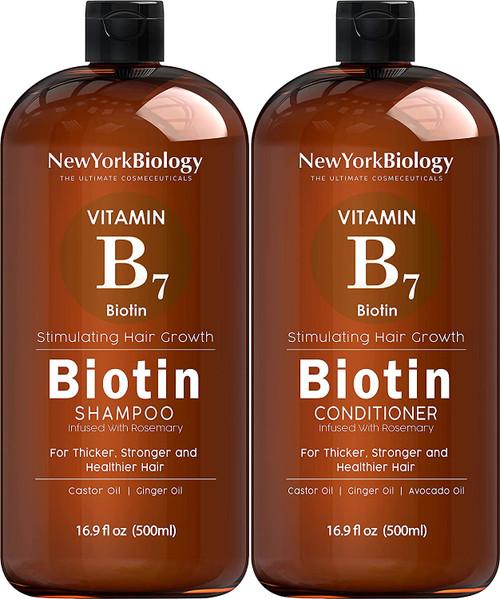 Biology Healthy Hair Vitamin B7 Biotin Shampoo and Conditioner Set