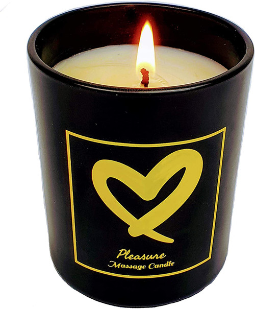 Pleasure Organic Smooth Hot Massage Candle - Midnight Jasmine