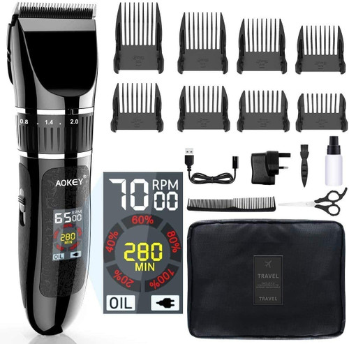 Aokey Men Hair Clipper and Beard Trimmer with Smart LCD Display