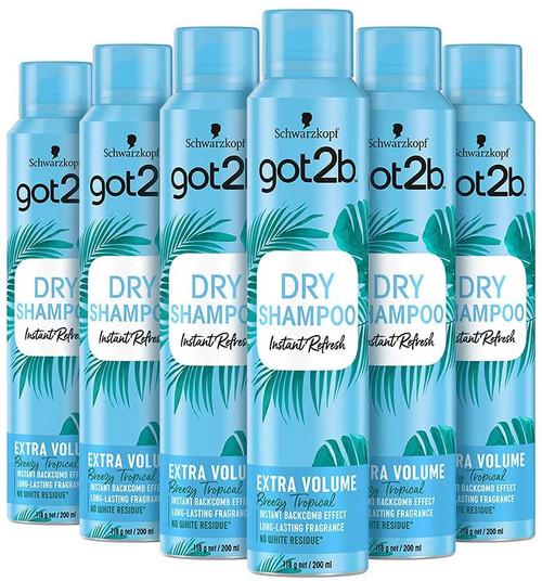Schwarzkopf got2b Instant Refresh Extra Volume Dry Shampoo - 6 pcs