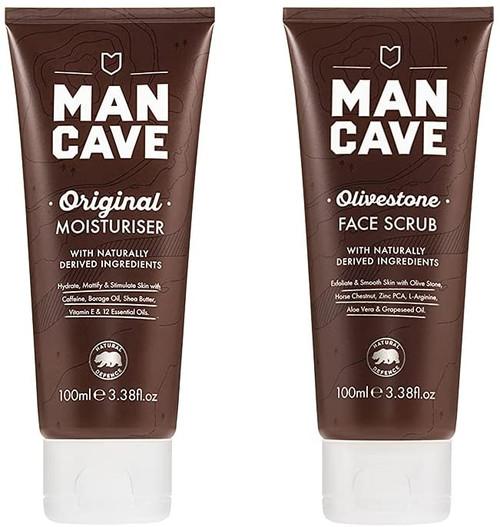 ManCave Skincare Duo Olivestone Face Scrub
