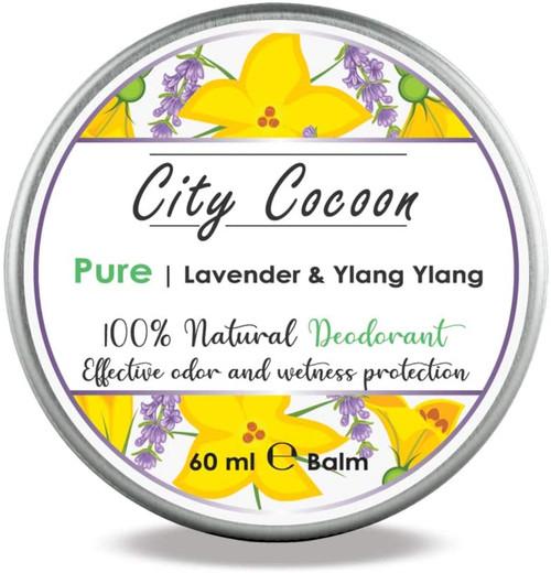 Pure Natural Deodorant Balm Lavender and  Ylang Ylang-60ml