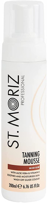 St Moriz Professional Instant Tanning Mousse with Aloe Vera-200ml