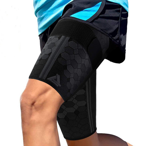 ActivRunner Thigh Compression Support Sleeve to Reduce Injuries - 2Pack
