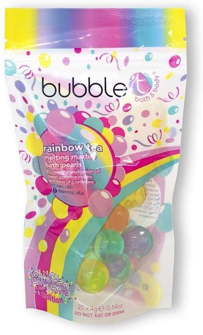 Bubble T Cosmetics Rainbow Tea Melting Bath Oil Pearls-20 x 4g