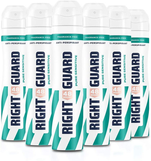 Right Guard Men Anti Stain 48HR Protection Deodorant - Pack of 6