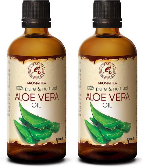Aromatika Pure and Natural Aloe Vera Massage and Bath Oil - Pack of 2
