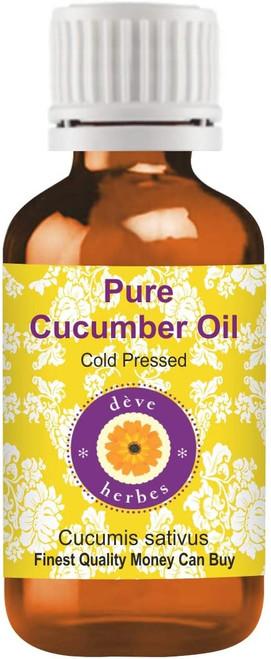 Deve Herbes Therapeutic Grade Cold Pressed Nourishing Cucumber Oil - 30ml