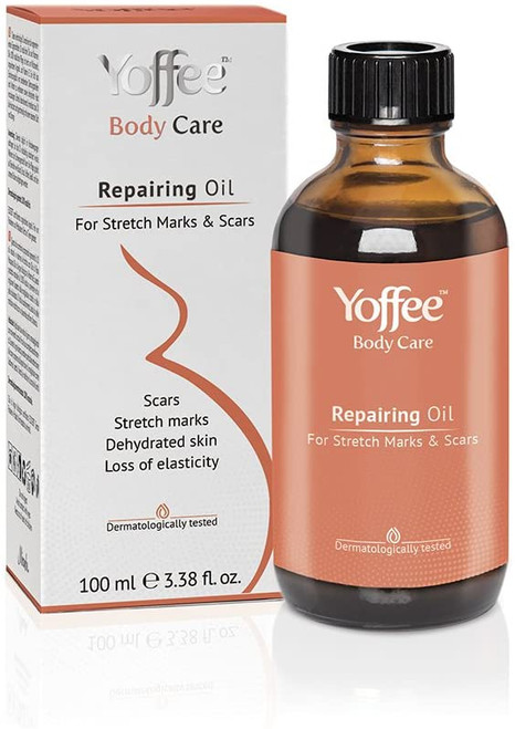 Yoffee Stretch Mark and Scars Repairing and Massage Oil - 100 ml.