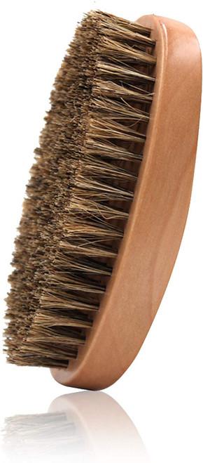Beard Brush for Men Pure Boar Bristles-Brown