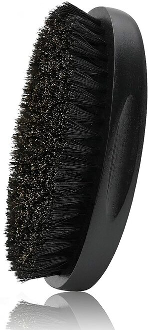 Beard Brush for Men Pure Boar Bristles-Black