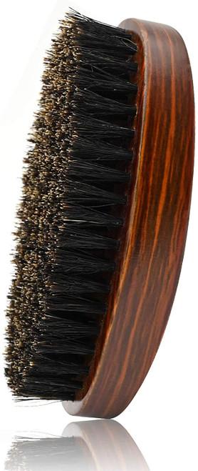 Beard Brush for Men Pure Boar Bristles-Red Brown