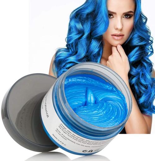 Hair Modelling Temporary Hair ColorWax-Blue