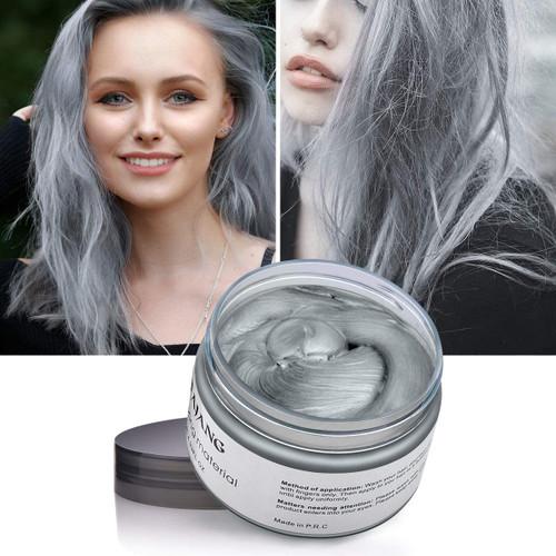 Hair Modelling Temporary Hair ColorWax-Silver Grey