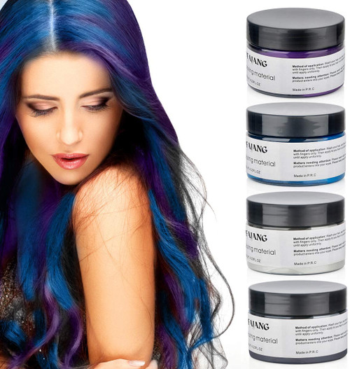 Hair Modelling Temporary Hair ColorWax-Multicolor
