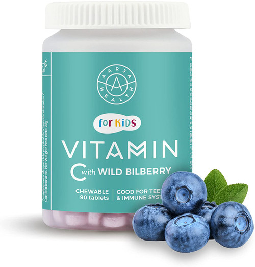 Aarja Kids Vitamin C Nordic Bilberry Chewable Tablets - 90 Tablets