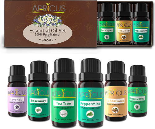 APRICUS Pure Wonderful Scent Essential Oil Set - Pack of 6