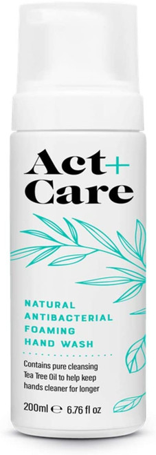 Act+Care Natural Antibacterial Foaming Hand Wash-6 x 200ml